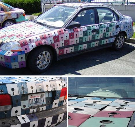 floppy disk car
