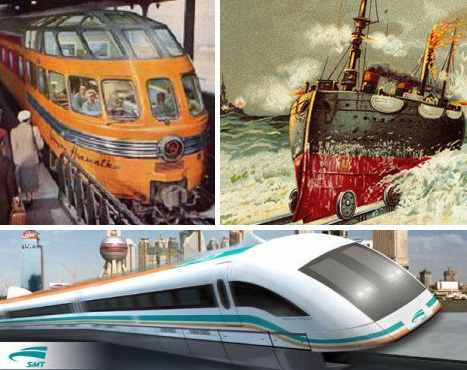 futuristic trains