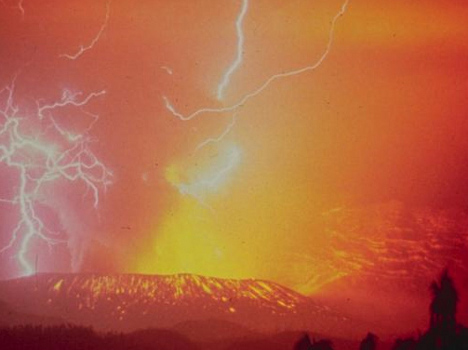 Strike of Genius: New Type of Lightning in Volcano Eruptions
