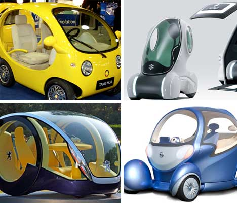 A Bubbly Future Weird Futuristic Electric Car Concepts