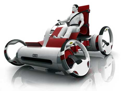 horseless buggy futuristic open top audi concept car gadgets science technology. Black Bedroom Furniture Sets. Home Design Ideas