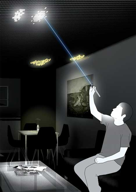 Lightly Artistic Cool Ceiling LEDs Let You Paint With Light