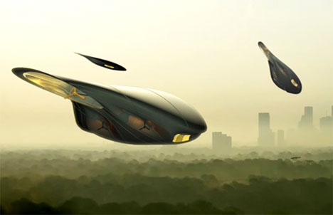 Up Up And Away To Work Crazy Commuter Airship Idea