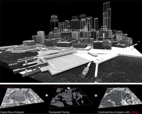 Real Architecture Buildings pop-up buildings: incredible 3d architectural holograms | gadgets