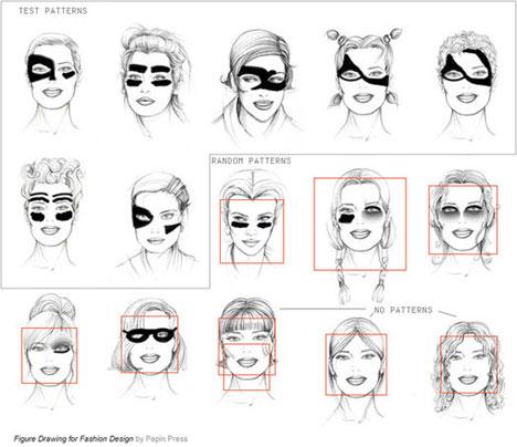С таким макияжем и раскраской лица системы распознавания лиц в камерах наблюдения (например в аэропортах) бесполезны.