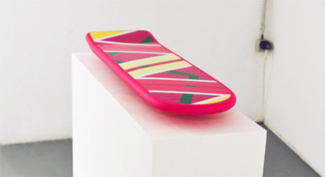 hello mcfly awesome hoverboard sculpture actually floats