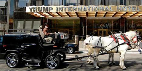 horse-drawn Hummer