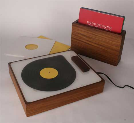 Touch Tunes Retro Record Player Modern Mp3 Player