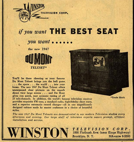 The Big Picture 10 Fun 1940s Ads For First Generation Tvs