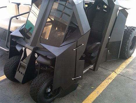 Dark Putt Batman Tumbler Themed Custom Golf Cart