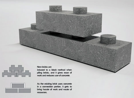 Cleaner construction brick recycler spits out huge legos gadgets science technology - How to build an alley out of reused bricks ...