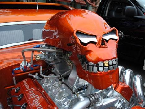 Highway Terror Rad Scary Customized Skull Hot Rod