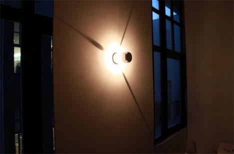 Literal Wall Clock Light And Shadow Form Elegant