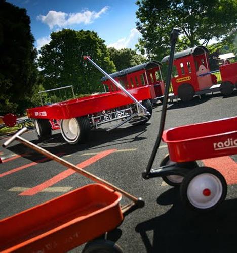 Bizarre Car Mash Up Giant Motorized Vw Red Wagon