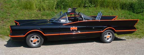 Holy Flaming Bat Car Ultra Detailed Drivable Batmobiles