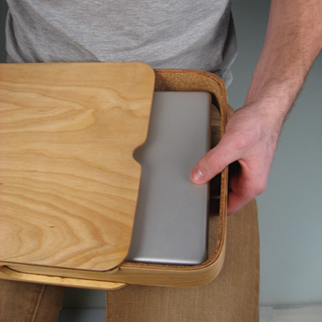 Classic Design Updated Wood Matchbox Style Laptop Case