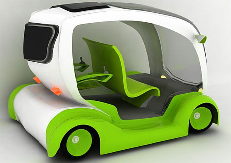 Openly Green: All-Electric Taxi Concept Driven by Joysticks
