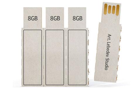 Thinking thin super skinny eco friendly memory sticks gadgets