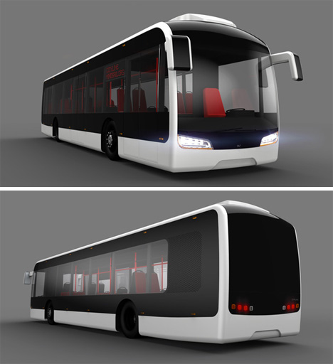 Cool Bus: Cool Commute: Ultra-Slick Futuristic City Bus Concept