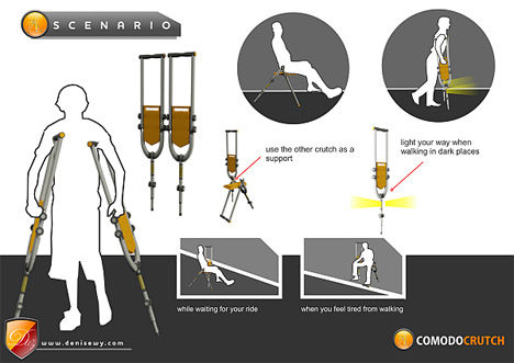 Take a Seat: Transforming Crutch Lets You Rest Wherever ...