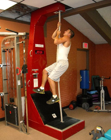 rope climbing machine workout