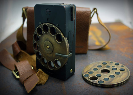 dial with soul: steampunk phone combines past and future