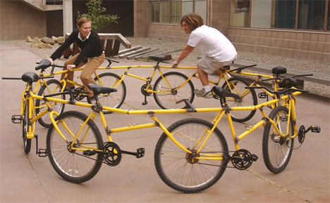 f6aaab7d817 Bike Centipede? Circular Bike Gets You + 8 Friends Nowhere | Gadgets ...
