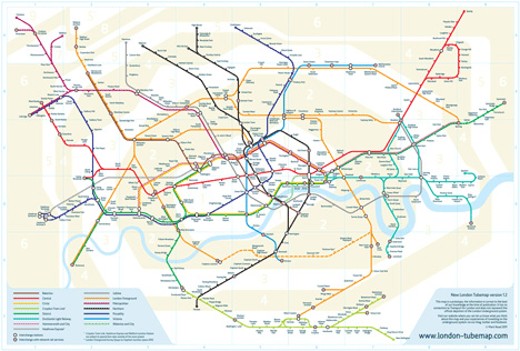 Re Drawing The Tube Iconic Map Gets Designer Makeover
