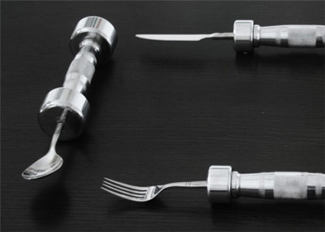 Only the Strong Get Pudding: Heavy Lifting Eating Utensils ...
