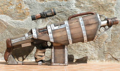 grandaddy of all nerf guns cool diy steampunk weapon. Black Bedroom Furniture Sets. Home Design Ideas