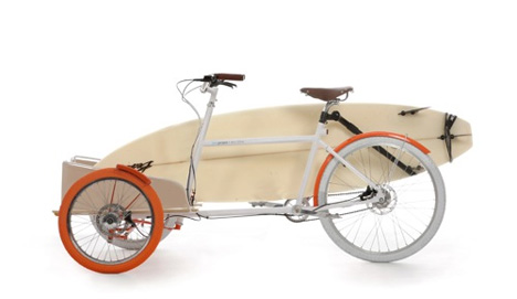The Pickup Of Bicycles Retro Look Lightweight Cargo Bike