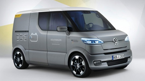 vw s delivery van concept is slick semi autonomous gadgets science technology. Black Bedroom Furniture Sets. Home Design Ideas