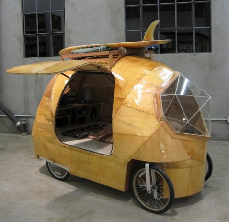 Custom Electric Bike Camper For Short Jaunts To The Beach