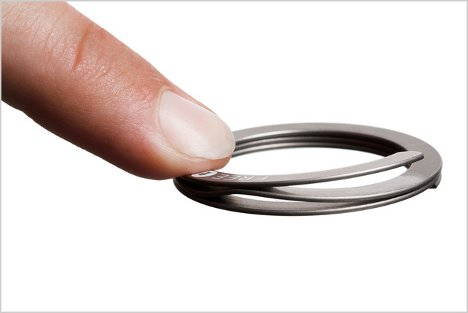 key ring opens with a simple touch saves your fingernails