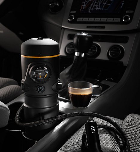 espresso express in car coffee maker is a jolt on wheels gadgets science technology. Black Bedroom Furniture Sets. Home Design Ideas