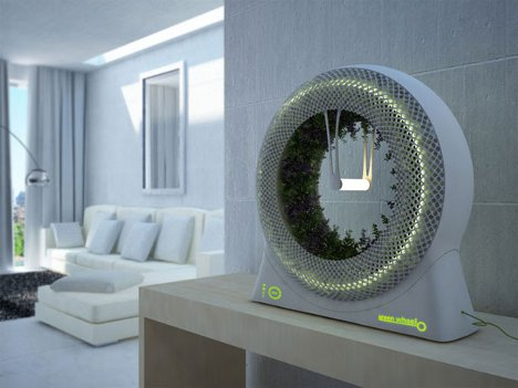 Spinning wheel planter is an ideal space age indoor garden for Indoor gardening gadgets