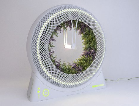 Spinning Wheel Planter is an Ideal Space Age Indoor Garden