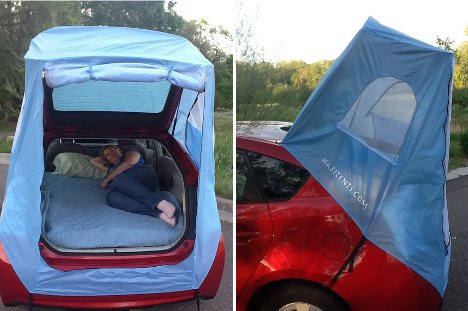 Car Tent Turns Prius Into Tiny Mobile Hotel Room For Two