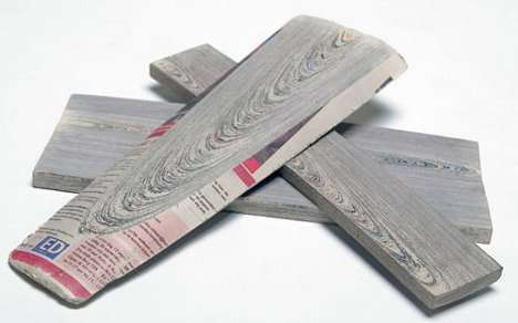 Righteous Recycling Newspaper Becomes Nouveau Wood