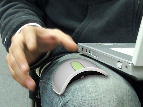 Curved Mouse Makes Armchair Computing More Comfortable. When ...
