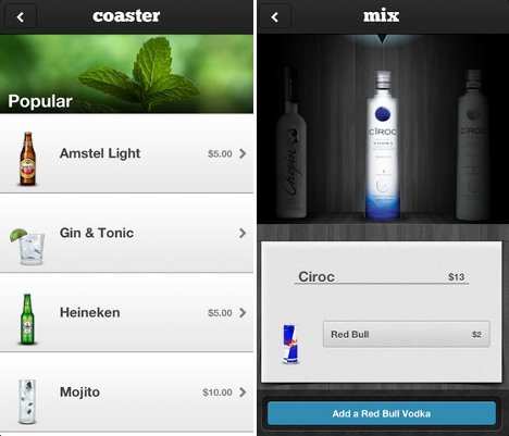 Bottoms up mobile app takes the lines out of ordering for App cocktail