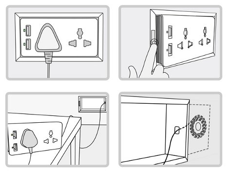 how to move wall socket aus