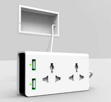 Amazing The Free Socket Concept Would Forever Free Us From The Hassle Of Finding An  Extension Cord. The Design, Created By A Team From East China Normal  University, ...