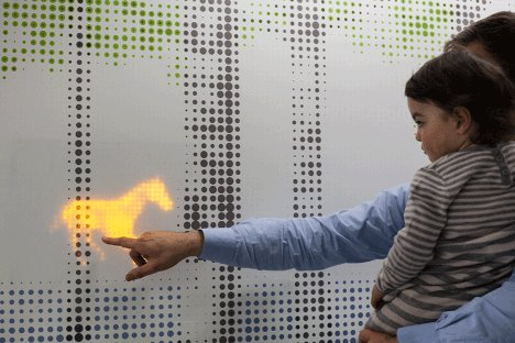 the nature trail interactive wall covering