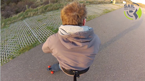 3rd person view longboard
