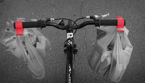 bike handle grocery bag carriers