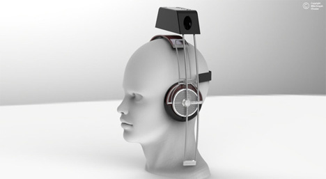 head mounted iphone movie viewing device