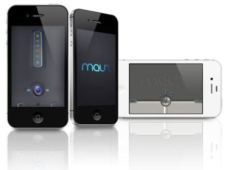 mauz futuristic iphone mouse