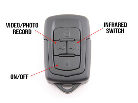 spy cam car key