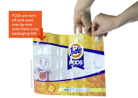 tide pods disappearing package